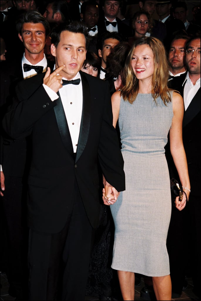 Then-couple Johnny Depp and Kate Moss walked the red carpet together for the premiere of The Brave in 1997.