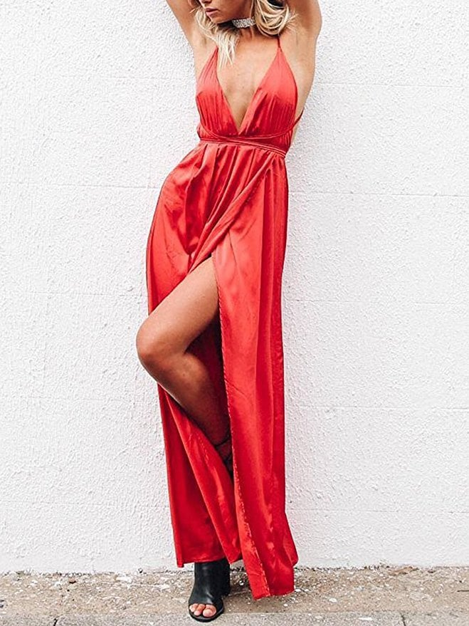 BerryGo Satin Party Dress