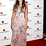 Jordana Brewster nailed the breezy Summer maxi look in a printed floor-grazing dress at a Hollywood party.