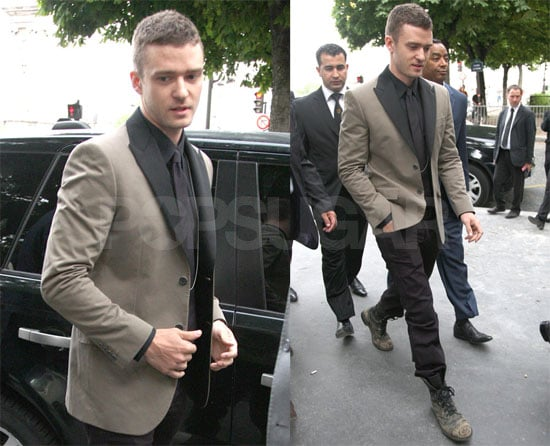 Photos of Justin Timberlake Heading to Givenchy Party in Paris