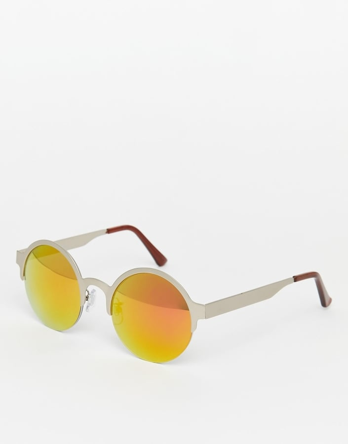 Jeepers Peepers Round Metal Mirror Sunglasses ($41)