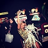 She took shots (and won tons of tickets) while playing video games at Dave & Buster's during her album release party in December 2013.