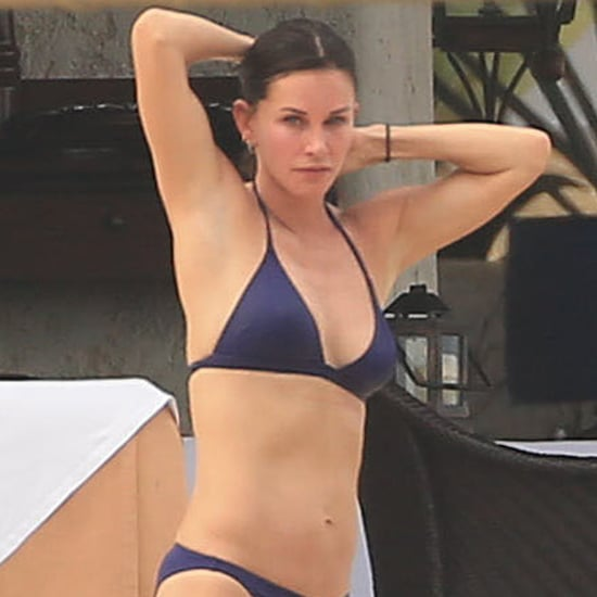 Courteney Cox in a Bikini With Johnny McDaid in Cabo