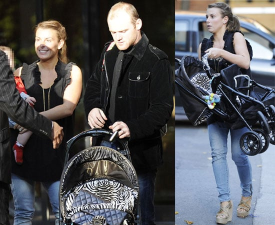 Pictures of Wayne and Coleen Rooney With Baby Kai Out In Manchester