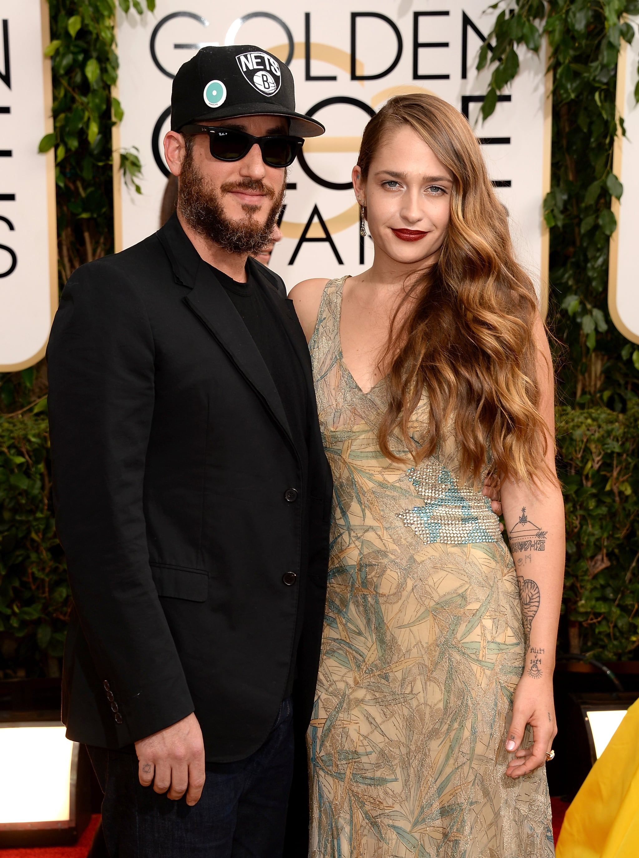 Jemima Kirke and her husband, Michael Mosberg, attended the Golden Globes.