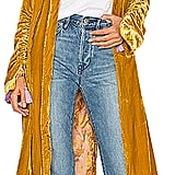 Free People Dhalia Velvet Duster Coat