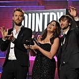 Lady Antebellum accepted their award for favorite country music band.