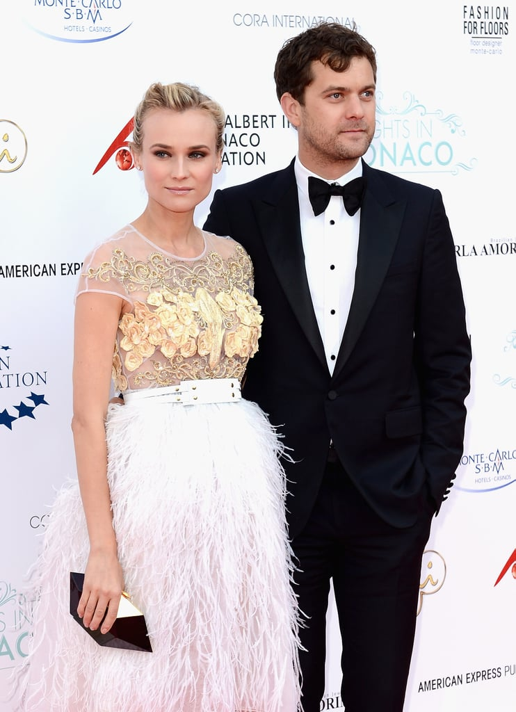 Diane Kruger and Joshua Jackson posed together on the red carpet at the Nights in Monaco Gala Fundraiser.