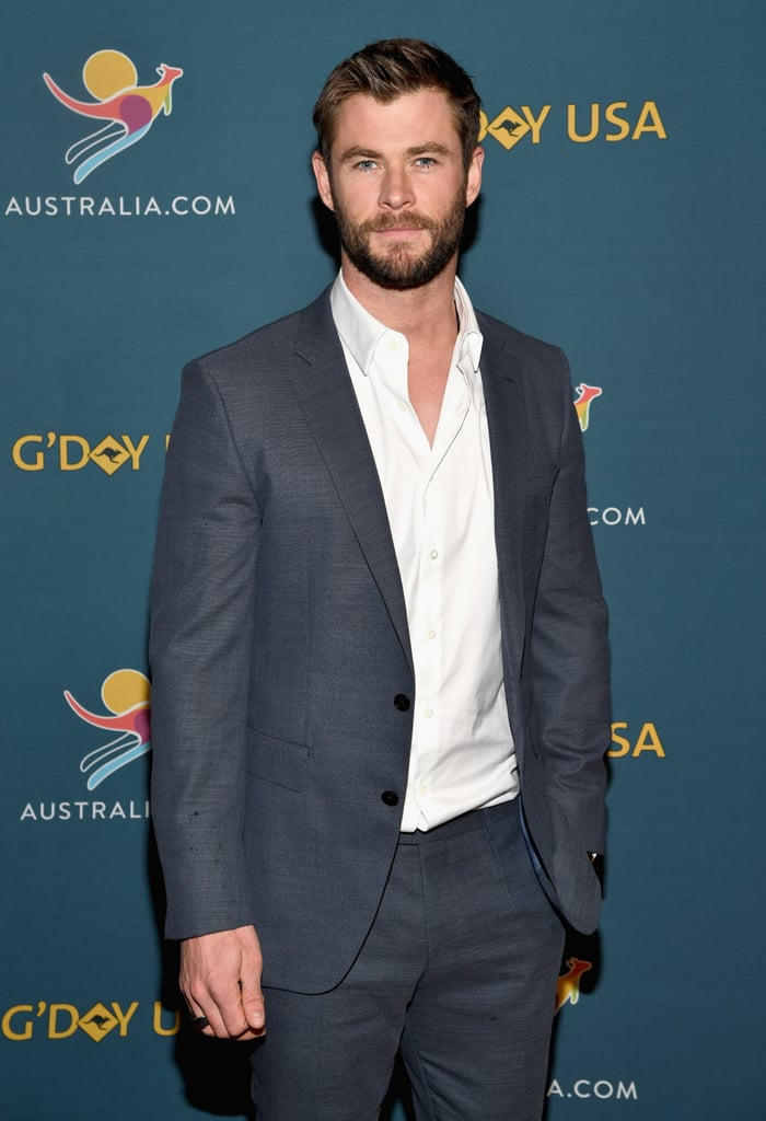 Chris Hemsworth certainly knows a thing or two about steaming up a red carpet, and his latest appearance was no exception. On Monday, Chris lead a virtual tour of his native Australia in NYC. As Tourism Australia's global ambassador, the Thor actor showcased the country's best qualities to tourism buffs through 18 virtual reality experiences at the Hudson Mercantile. Chris looked incredibly handsome in a crisp suit, but it was ultimately his gorgeous blue eyes that left us spellbound. Keep reading and see for yourself.