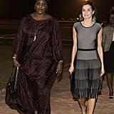 Queen Letizia in a Hugo Boss Dress