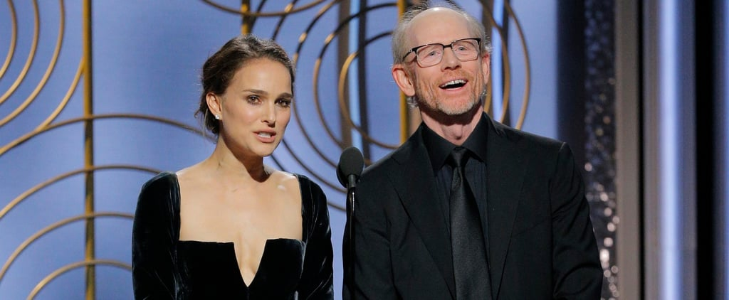 Natalie Portman Presenting at the Golden Globes 2018 Video
