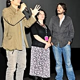 Gael Garcia Bernal with Diego Luna and a friend.