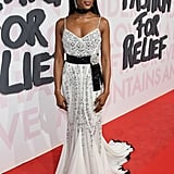 Naomi chose a diamond-encrusted gown for the Fashion For Relief event.