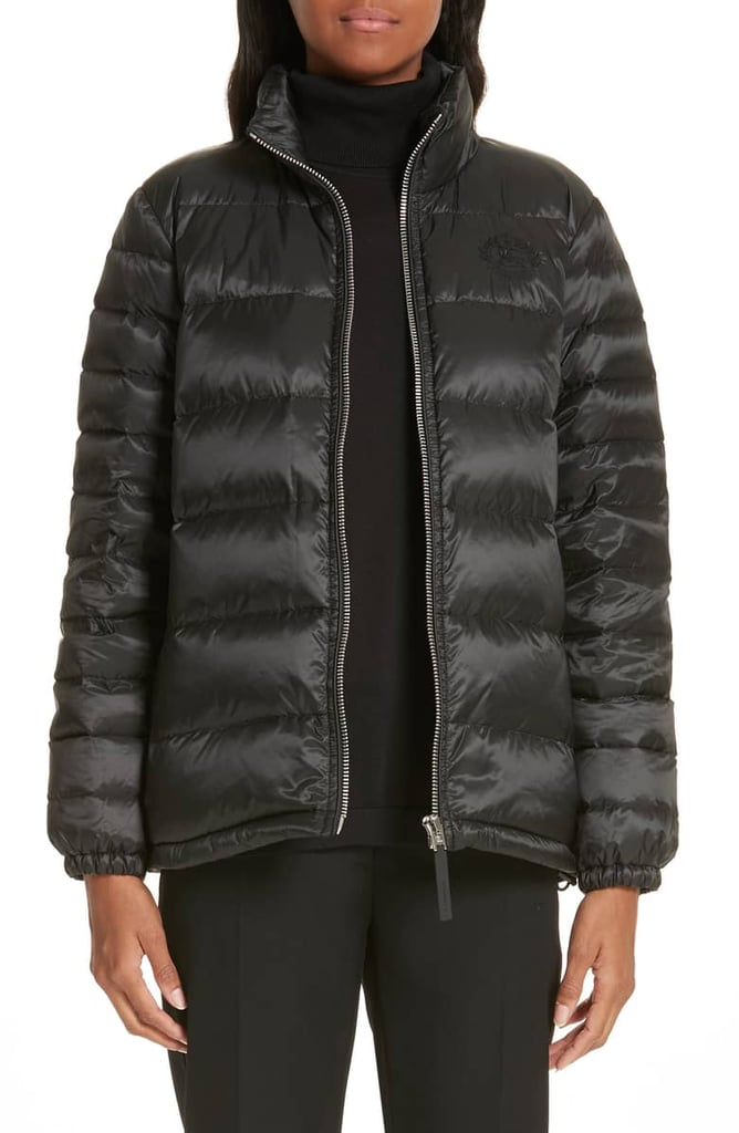 ec335690e Burberry Smethwick Archive Logo Quilted Down Puffer Coat   Nordstrom ...