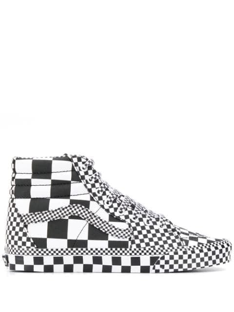 Vans Checked High Top Sneakers