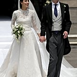 Prince Christian of Hanover and Alessandra de Osma wed for the second time in a religious ceremony at St. Peter's Church in Lima, Peru, in March 2018. Their first wedding was a civil ceremony in London in November 2017.