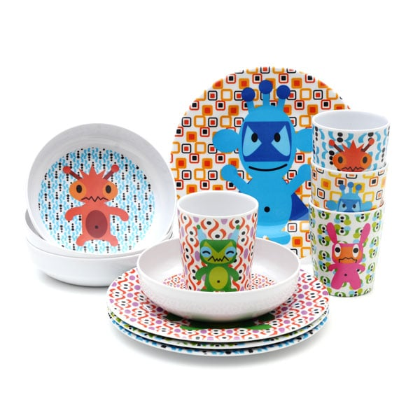 Do the monster mash with French Bull's set of assorted dishwasher-safe melamine plates ($32). You can also choose from superhero, robot, jungle, and princess motifs.