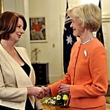 Julia Gillard was sworn in as Prime Minister of Australia at Parliament House on Sept. 14, 2010, in Canberra.