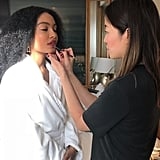 Yara Getting Her Makeup Done For the SAG Awards
