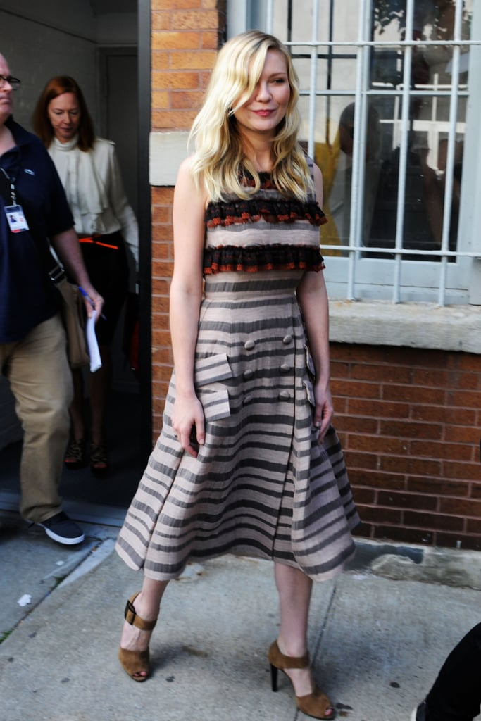 Kirsten Dunst showed off a Rodarte creation on her way to — where else?! — Rodarte.