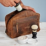 Paper High Personalised Buffalo Leather Wash Bag