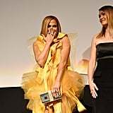 Jennifer Lopez and Julia Stiles at the Hustlers Premiere in Toronto