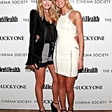 Doutzen Kroes (with Erin Heatherton) at the Cinema Society and Men's Health screening of The Lucky One in New York in April 2012.