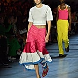 Gigi Strutting Her Stuff in a Flirty Prabal Gurung Skirt