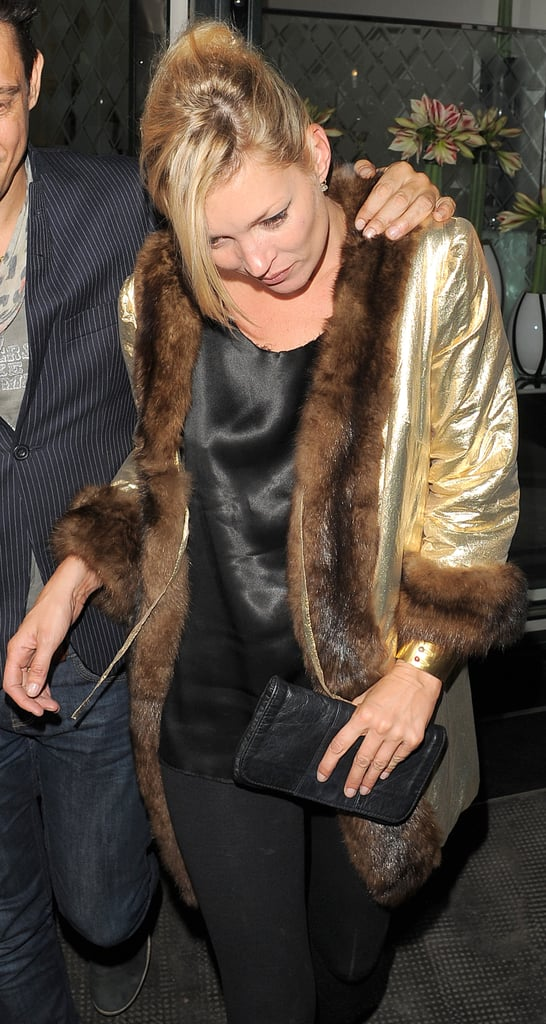 Kate Moss, Jamie Hince, Rhys Ifans, Kimberly Stewart At The Ivy