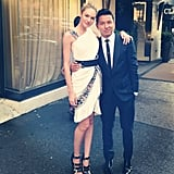 Candice Swanepoel shared a photo of herself with her CFDA Fashion Awards date, designer Prabal Gurung. Source: Instagram user angelcandices