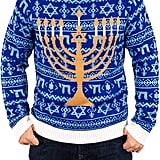 Festified Ugly Hanukkah Sweater in Blue