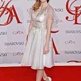 Freshly minted fashion darling Jessica Chastain attended last year's ceremony in a silvery white Prabal Gurung frock.
