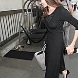أنجلينا جولي ترتدي فستاناً أسود للمطار يونيو 2016