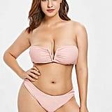 Zaful V-Cut Bandeau Bikini Set