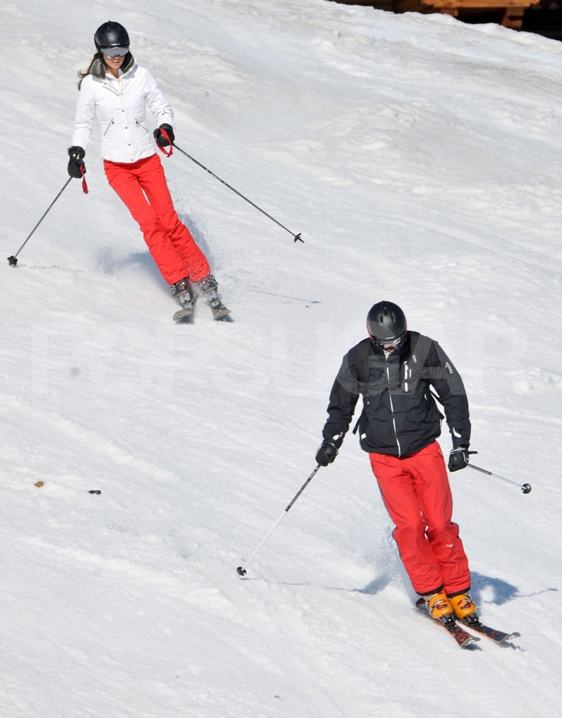 Prince William and Kate Middleton carved down the mountain on their ski vacation to France.
