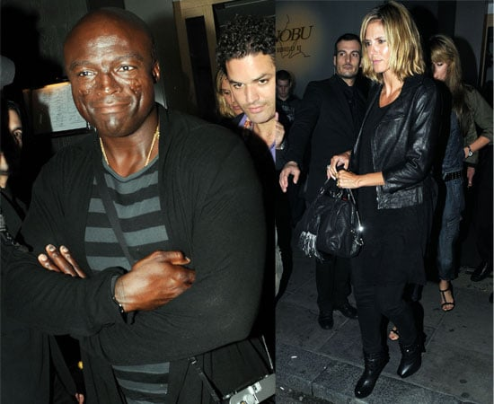 Pictures of Heidi Klum and Seal Out For Dinner in London