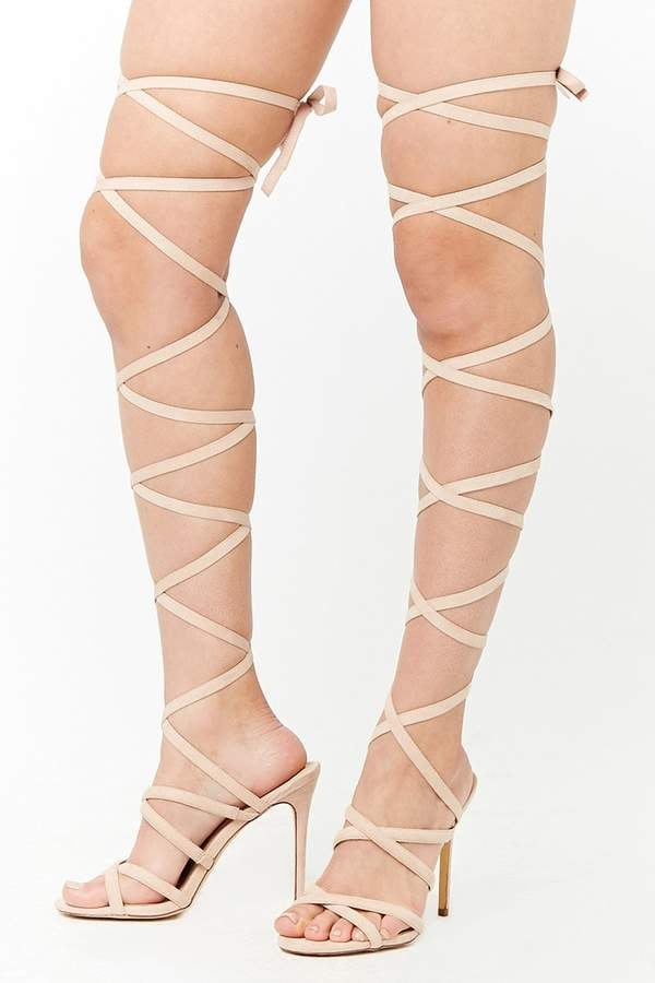 Forever 21 Lace-Up High Heels | Emily