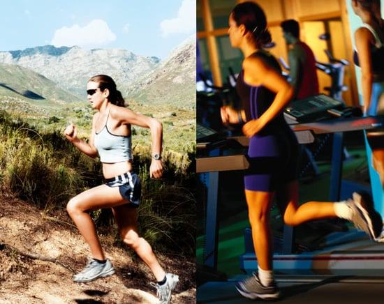 Which do you find more difficult:  running outside or on a treadmill?