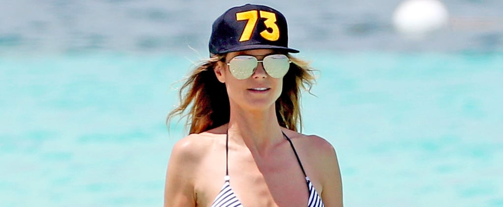 Heidi Klum Slips into a Bikini and Sips From a Coconut in Turks and Caicos
