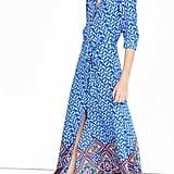 Express Blue Paisley Maxi Shirt Dress ($98)