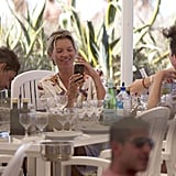 Kate Moss had lunch with Jamie Hince in Ibiza.