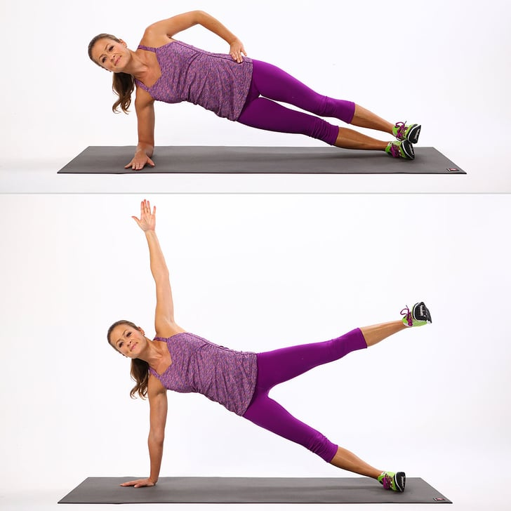 Stability Ball Side Lift: Bodyweight Arm Exercises