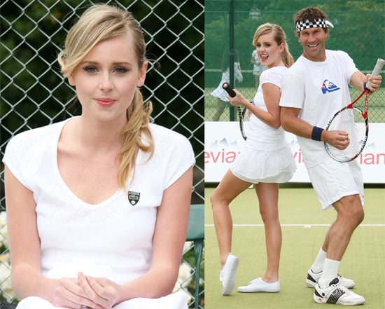 Pictures of Diana Vickers Getting a Tennis Lesson at Wimbledon From Pat Cash