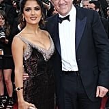 Salma Hayek and her husband, French businessman François-Henri Pinault, posed before the screening of Madagascar 3: Europe's Most Wanted.