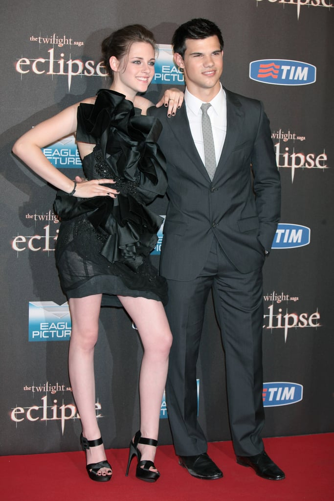 Pictures of Kristen Stewart and Taylor Lautner at Rome Eclipse Premiere