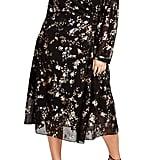 Rachel Rachel Roy Foiled Floral Faux Wrap Dress