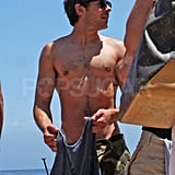 Zac Efron took his shirt off in Malibu.