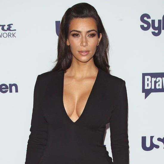 Kim Kardashian Wearing Sexy Black Wes Gordon Dress