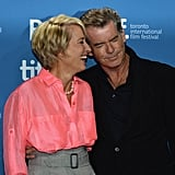 With Pierce Brosnan