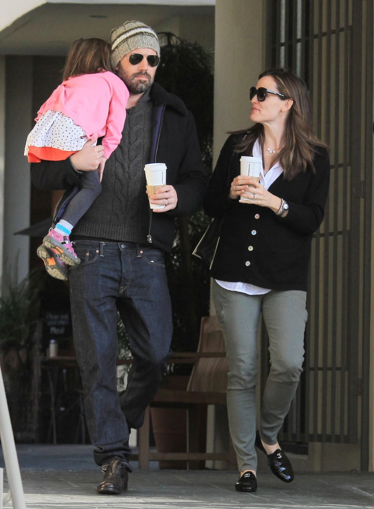 Ben Affleck and Jennifer Garner spent special time with their middle child Seraphina Affleck in LA in March 2013.